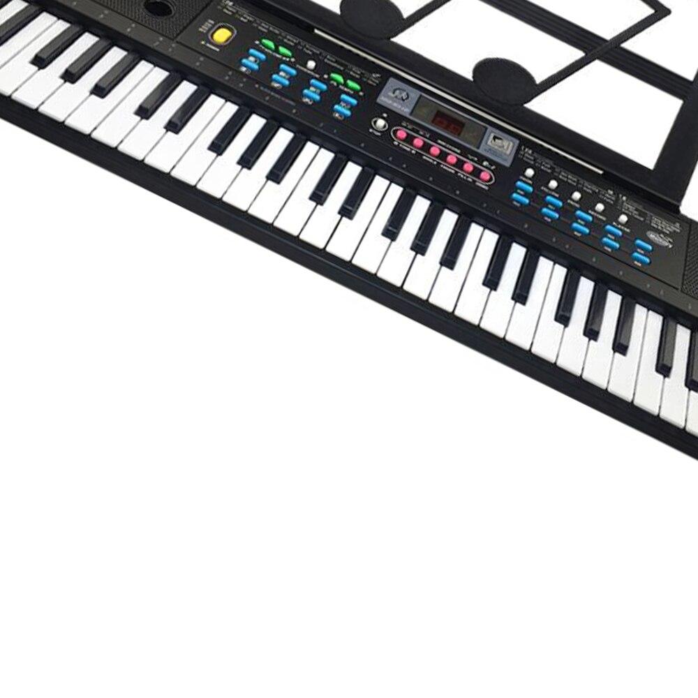 61 teclas teclado electrónico Digital y micrófono eléctrico Led música - 5