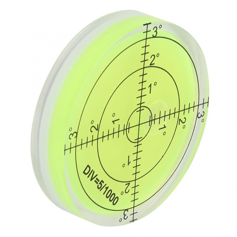 Электронный транспортир 60 мм Диаметр измерительный инструмент Круглый Уровень пузырь со шкалой для камеры платформы баланс линейные весы