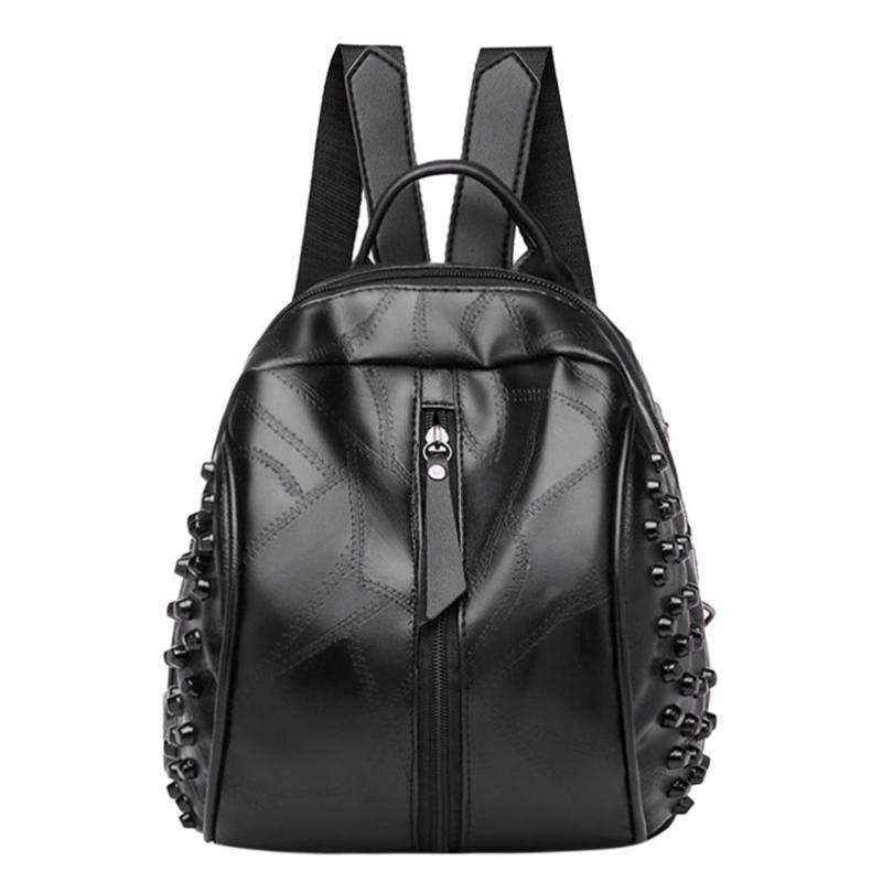 Punk Women Small Rivets Backpacks PU Leather Girl Student Preppy School BagPunk Women Small Rivets Backpacks PU Leather Girl Student Preppy School Bag