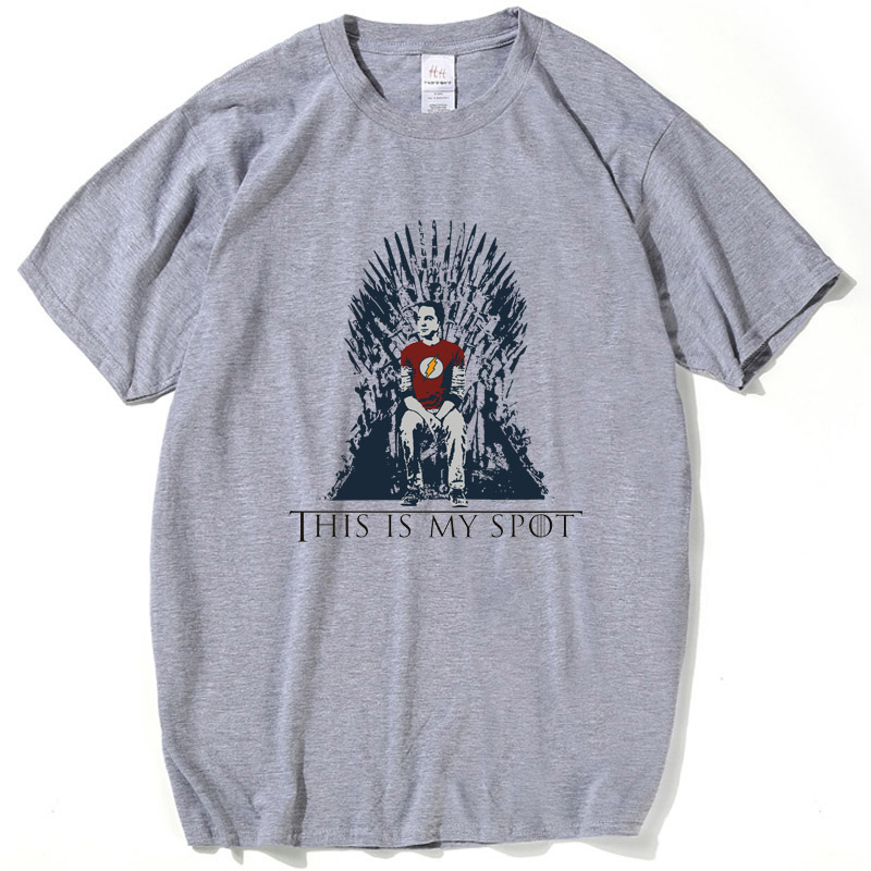The Big Bang Theory T Shirt This Is My Spot Games Of Thrones Men Shirts Top Tees Casual Man Clothing Funny Shirt