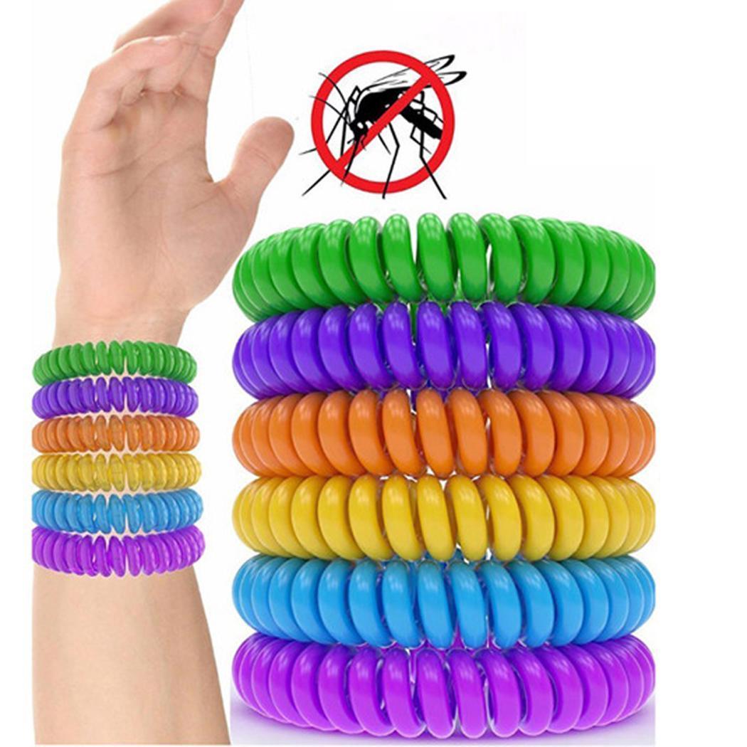 10Pcs Anti Mosquito Repellent Bracelet Killer Mosquito Outdoor Wrist / Ankle Safe For Baby Child Adult Random Deworming Bracelet