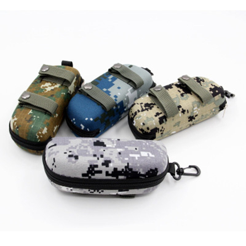 Tactical EVA Portable Sunglasses Box Camouflage Molle Zippered Goggle Box Glasses Bag Case Outdoor EDC Accessory Bags