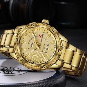 Image 4 - NAVIFORCE Luxury Brand MensกีฬานาฬิกาFull STEEL Quartzนาฬิกาผู้ชายวันที่นาฬิกากันน้ำrelogio masculino