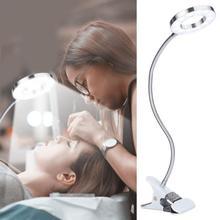USB круг для макияжа, светодиодный светильник для татуировки бровей и губ, лампа для чтения, лампа для маникюра, татуировки, макияж, светодиодный светильник с зажимом