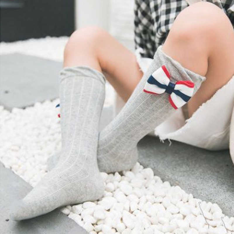 4f35adafde85b 2019 New Toddler Infant Kids Baby Girl Long Socks Knee High Bows Princess  Socks Cute Tube