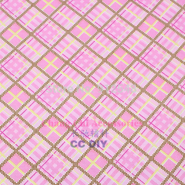 Arts,crafts & Sewing 15711312 Pink Plaid 50cm*150cm Lattice Series Cotton Fabric,diy Handmade Patchwork Cotton Cloth Home Textile Free Shipping Apparel Sewing & Fabric