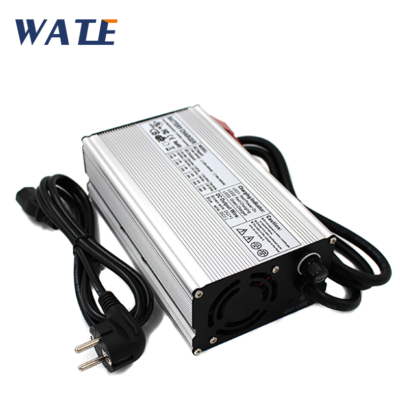 48V 8A Lead Acid Battery Charger Output 48V LED With Fan Aluminum Shell48V 8A Lead Acid Battery Charger Output 48V LED With Fan Aluminum Shell