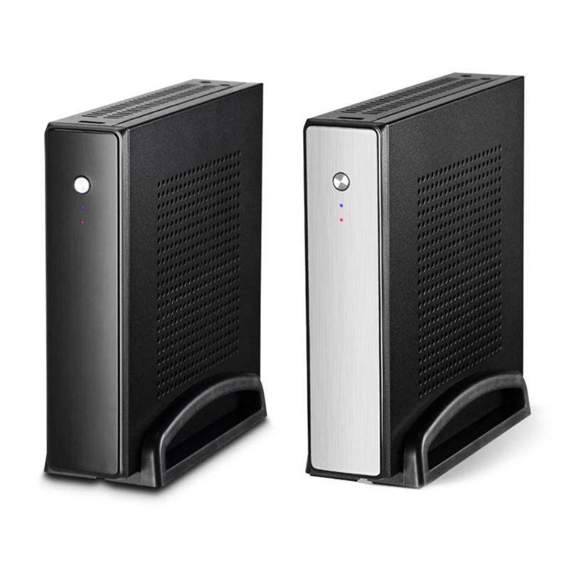 PC Case ET-4 Thin Mini ITX Cases USB2.0 2.5 inch HDD SDD SGCC Computer Gaming PC Desktop Chassis For Black/Sliver Color