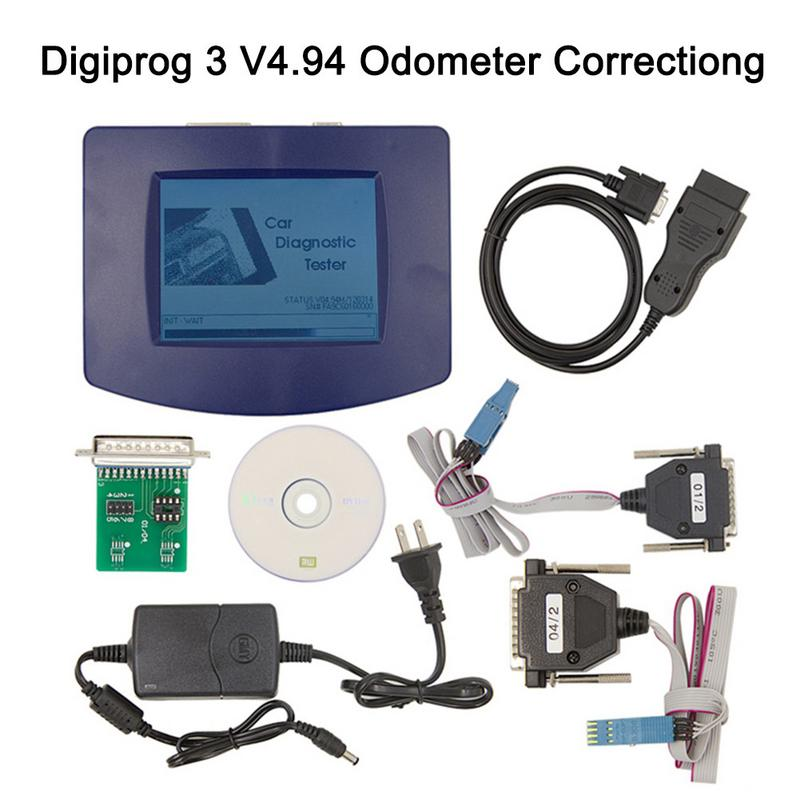 Compteur de Diagnostic de Correction d'odomètre Digiprog III V4.94 Digiprog3 de voiture avec l'outil de Correction de kilométrage de câble OBD2 ST01 ST04