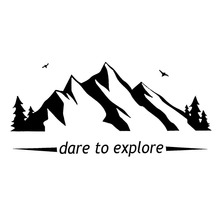 18.7cm*8.9cm Choose Dare To Explore Mountain Vinyl Car Sticker Delicate Window Decal