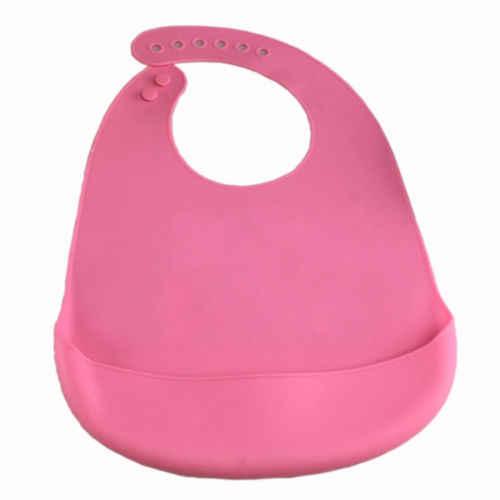 PUDCOCO bebé niño de silicona Baberos alimentación bebé colector de migajas Wipeable impermeable Baberos de bolsillo