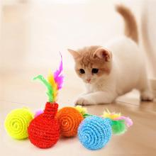 2pcs Cat Supplies Cat Ball Toys for Puppy Cat Interactive Playing Chew Toy Funny Cats Feather Toys for Pet Cat Training on Aliexpress.com | Alibaba Group