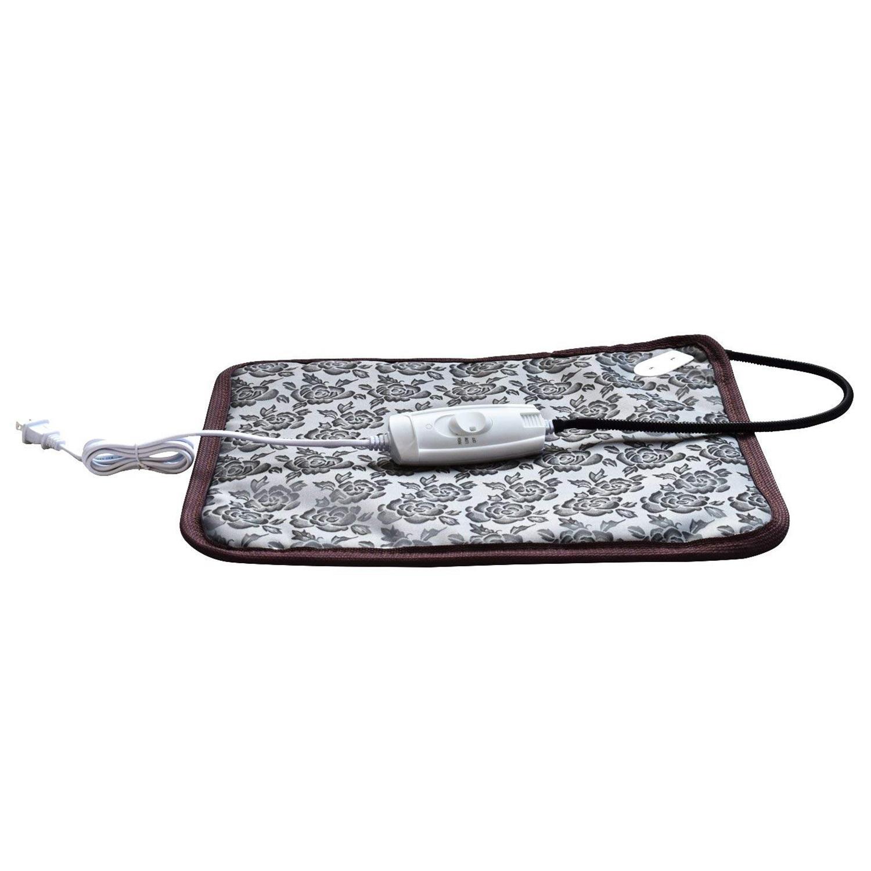 110V Peony Pattern Household Car Electric Heating Cushions Waterproof Temperature Adjustable Pet Electric Blanket US Plug