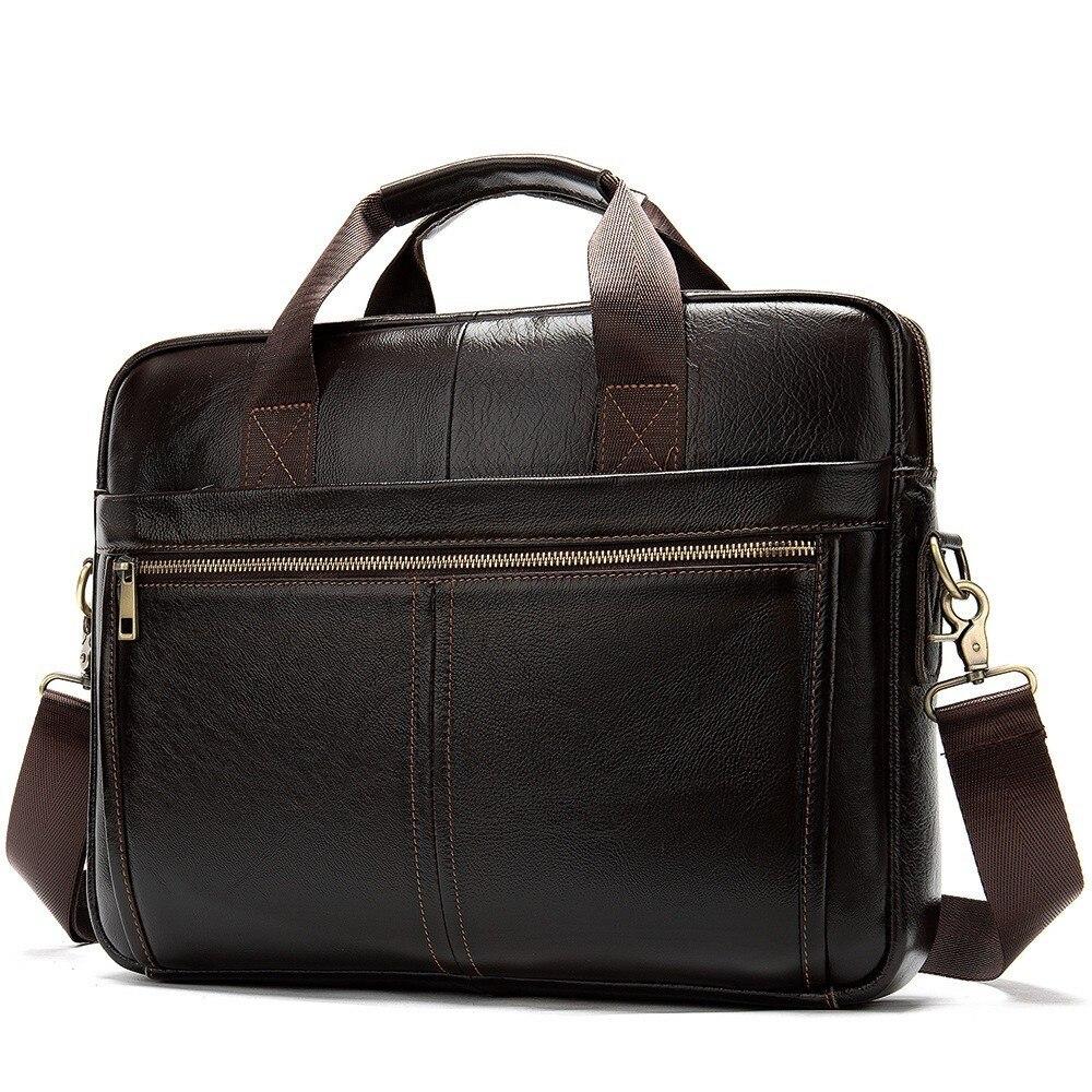 Porte-documents d'affaires homme pour avocat sac en cuir véritable Messenger hommes sacs à bandoulière en cuir ordinateur portable hommes porte-documents