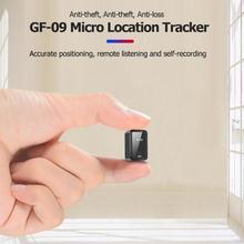 GF-09 Дистанционное Прослушивание Мини gps трекер в режиме реального времени локатор приложение микрофон Голосовое управление для автомобиля/человека местоположение