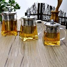 купить High Quality Heat Resistant Glass Teapot Chinese Kung Fu Tea Set Puer Kettle Coffee Glass Maker Convenient Office Clear Tea Pot дешево