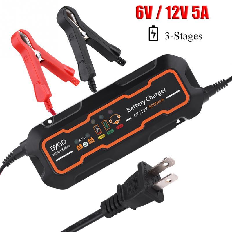 6 v/12 v 5A Automatique Intelligent Chargeur de Batterie pour Voiture Véhicule Camion Moto Bateau AGM GEL Auto Remplacement pièces