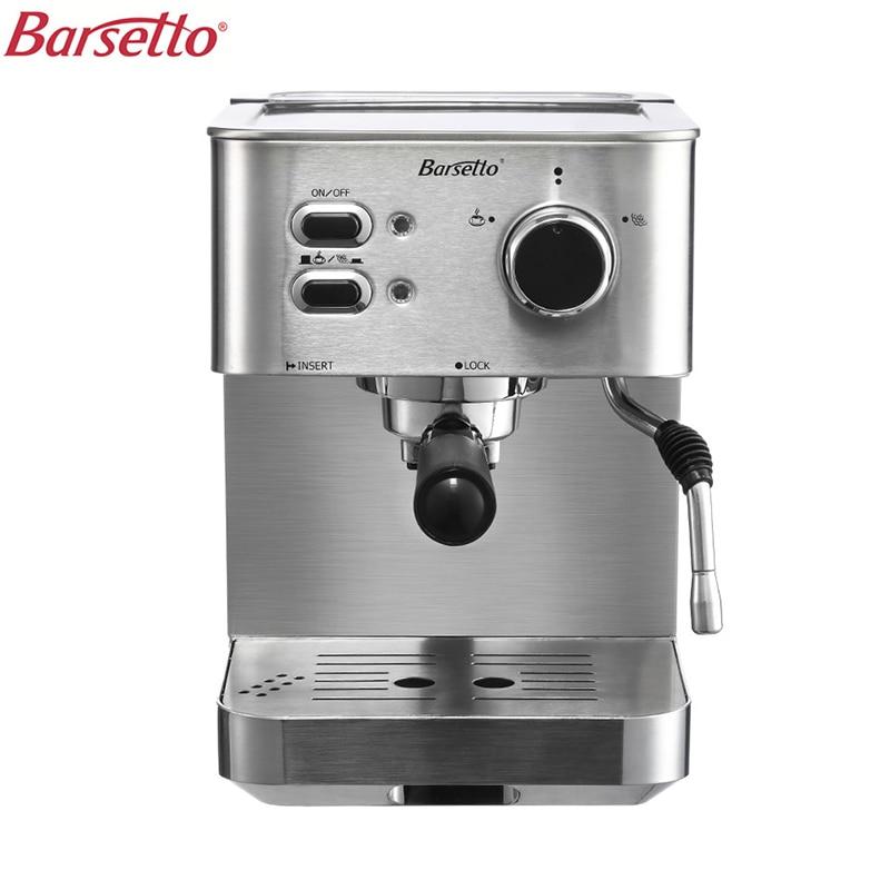 Барсетто 15 бар давление кофе машина портативный Кофеварка из нержавеющей стали бытовой эспрессо кофеварка ЕС штекер
