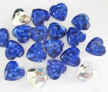NBNLWK 100pcs ocean blue heart shape shirt buttons 1/2 DIY sewing accessories