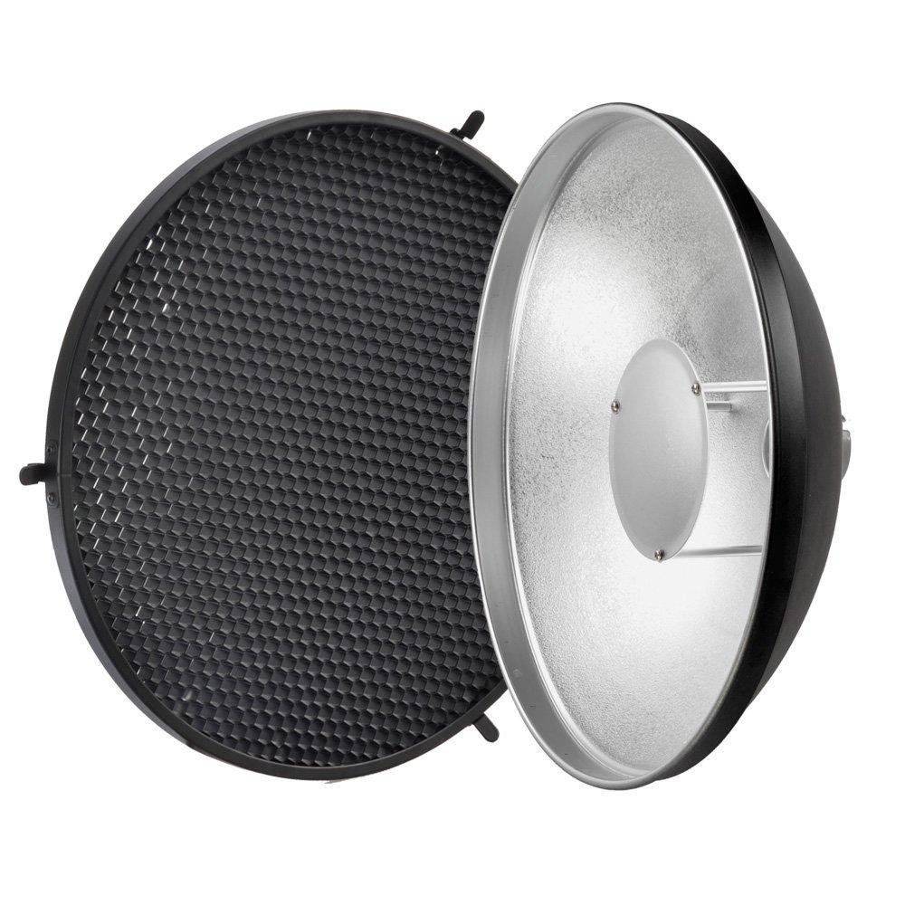 Godox AD S3 Beauty Dish Reflector with Honeycomb Cover for Godox Witstro AD200 Pocket Flash Godox