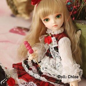 1/6 boneca bjd littlefee fullset chloe ante shue bisou incluir peruca roupas sapatos meias ect crianças presentes