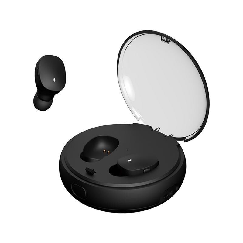 CLAITE True Wireless Binaural Bluetooth V5.0 Earphone Super Bass Earbuds TWS Earphone Earphone for Iphone for Xiaomi