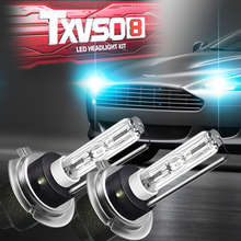 2 x Ксеноновая лампа автомобиля лампы H7 железное основание выделить VSLED фар автомобиля 55 Вт 4500LM