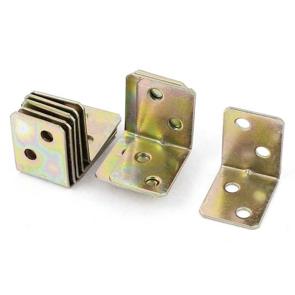 ELEG の金属棚サポート 90 度直角ブラケット 12 個真鍮トーン