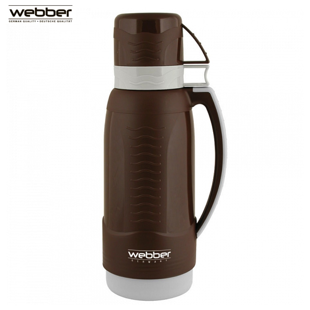 Vacuum Flasks & Thermoses Webber 31003/12S Brown thermomug thermos for tea Cup keep сup stainless steel water mug food flask eglo 31003