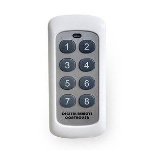 Image 5 - 433.92MHz RF 모듈 스위치 컨트롤러 무선 원격 제어 송신기 8 채널 키 학습 코드 스위치 차고 문