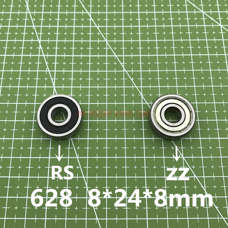 2019 Real New 10pcs/lot 628 628zz 628rs 628-2z 628z 628-2rs Zz Rs Rz 2rz Deep Groove Ball Bearings 8 X 24 8mm Abec-5 8*24*8mm