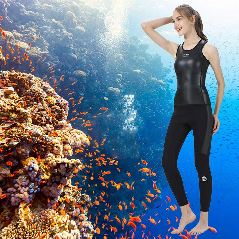 Super Elastic Wetsuit Light Leather Diving Vest Warm Swimming Rowing Vest Dragon Boat Suit Fitness Body Sleeveless 360 Lock