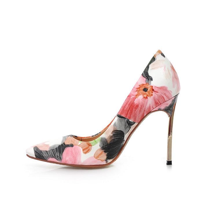 Décontractées Sac Femmes Imprimé as Nouveau Enfers Hauts Talons Automne Picture Kelly Picture As Chaussures Mince 2019 v86qPEn