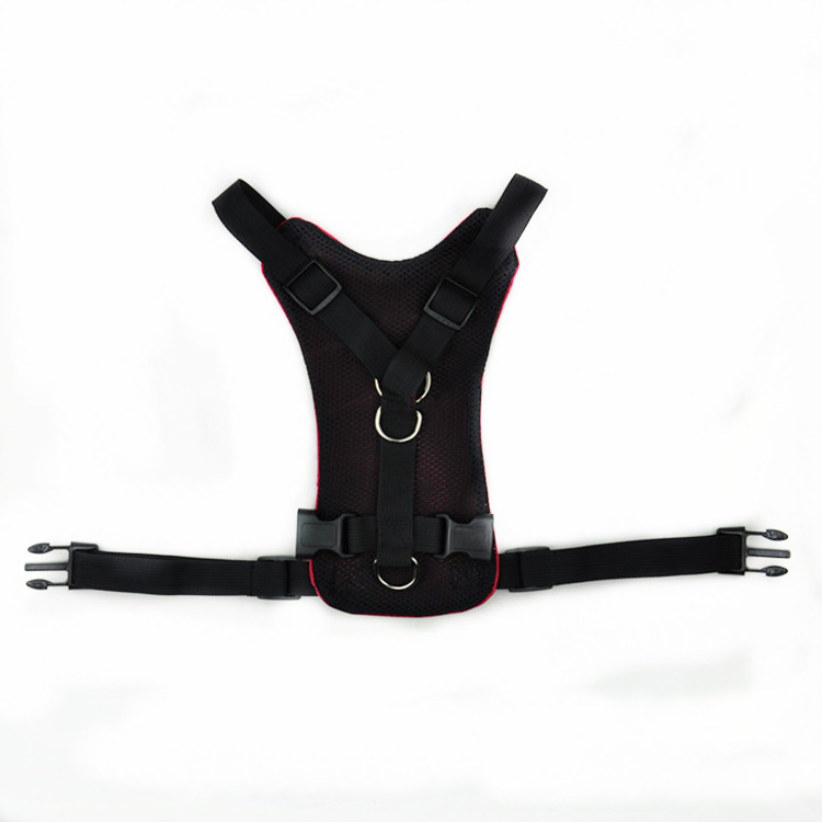 Dog chest strap car seat belt pet harness dual purpose harness vehicle retractable traction strap in Harnesses from Home Garden