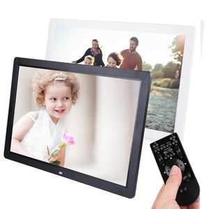 Digital-Photo-Frame Player Large-Screen Album MP3 17inch Clock Remote-Control-Support