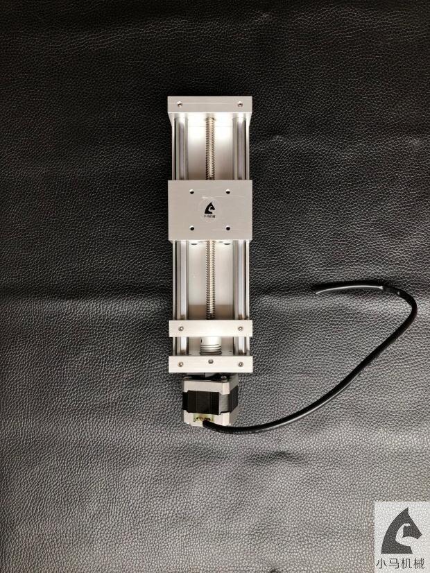 Table coulissante manuelle course efficace 120mm vis trapézoïdale glissière micro écrou à vis