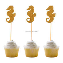 72pcs Lovely Animal Cupcake toppers Cartoon Ice kids birthday party supplies Cream Cake Topper Decoration baby shower