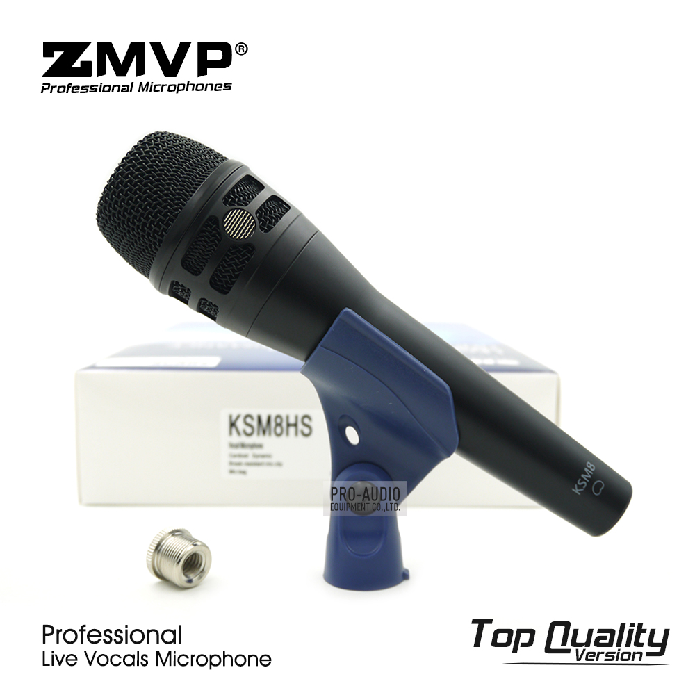 Top Quality Version KSM8 Professional Live Vocals KSM8HS Dynamic Wired Microphone Karaoke Super-Cardioid Stage Performance Mic