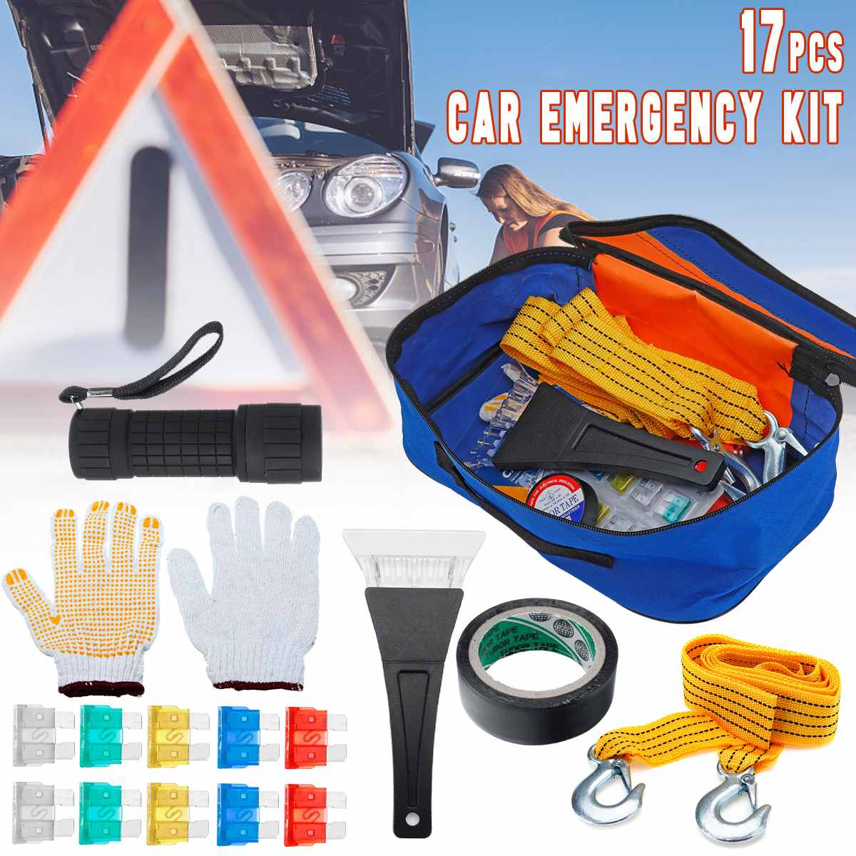 Survival-Equipment-Set First-Aid-Kit Car-Emergency-Kit Safety Universal Road-Rescue-Tool