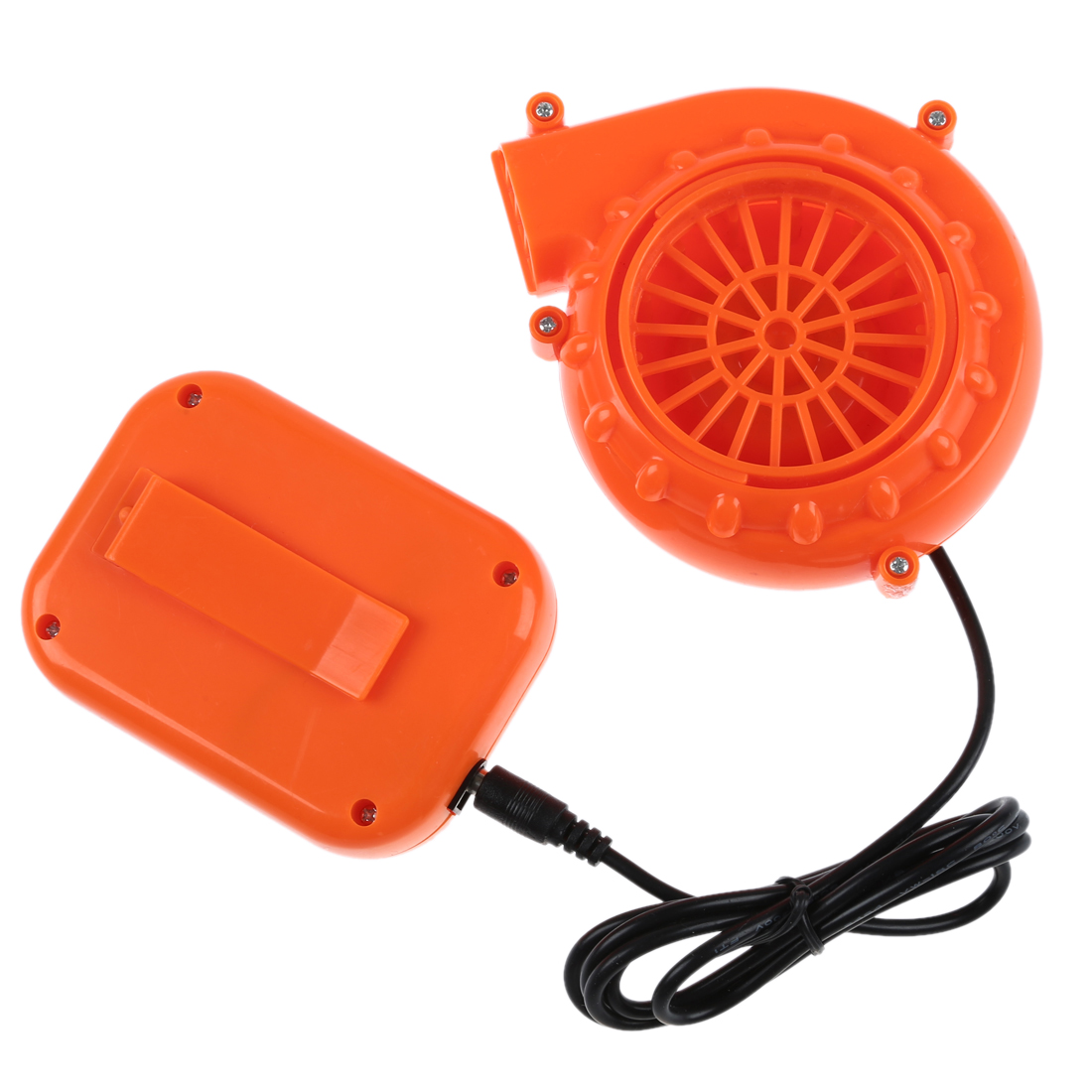 Mini Fan Blower for Mascot Head Inflatable Costume 6V Powered 4xAA Dry Battery Orange It can be used for gas mode, inflatable