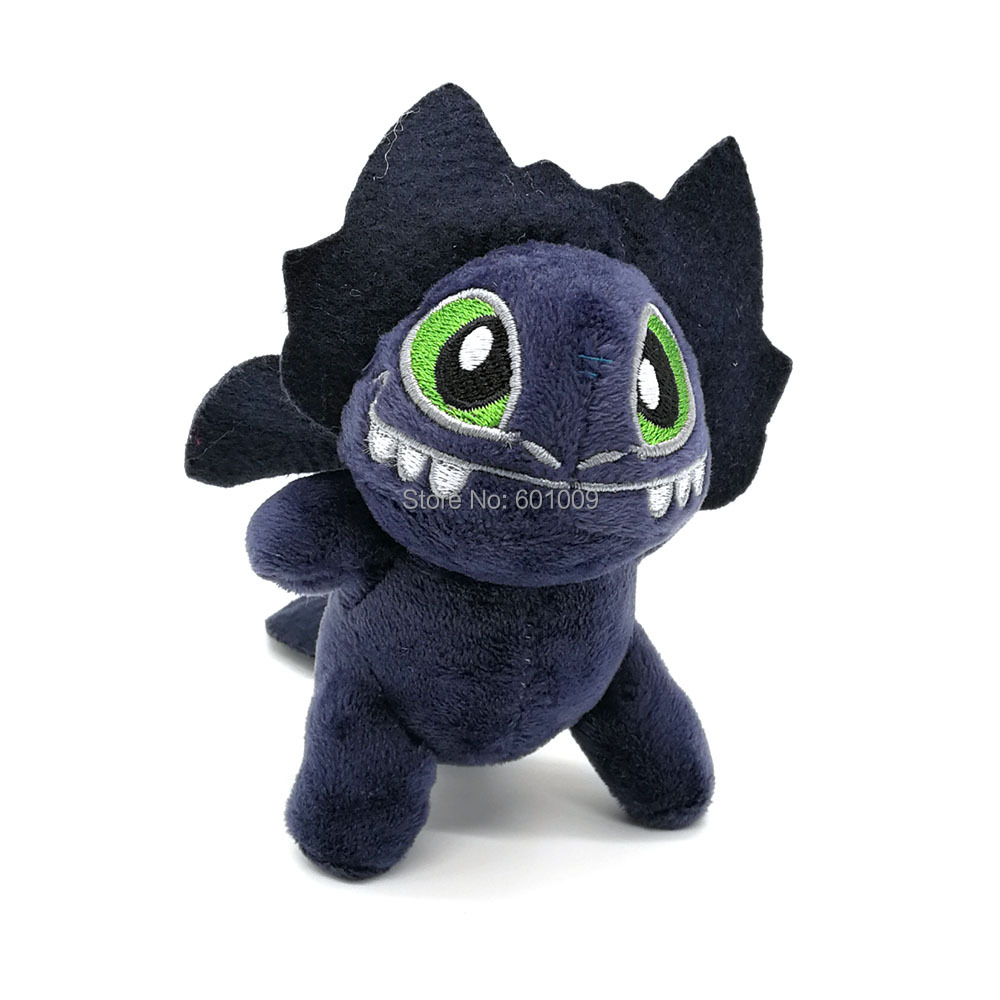 Free Shipping EMS 100 Lot Night Fury Toothless 13CM Plush Keychain Doll For Jewelry Pendant