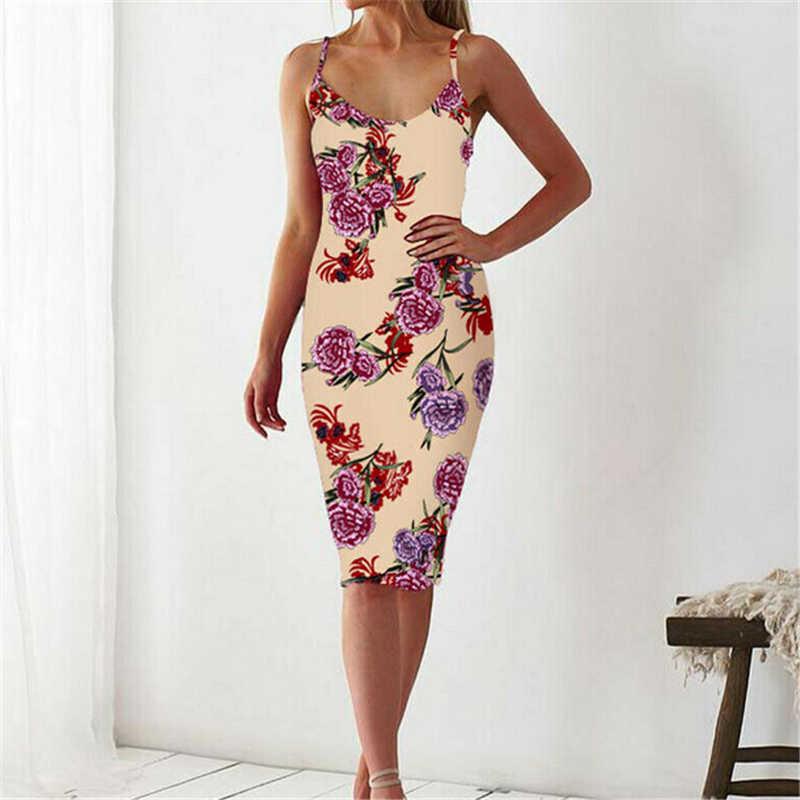 Модное женское платье Элегантное цветочное вечернее платье для женский сарафан повседневные женские платья-карандаш Повседневное платье для женщин без рукавов