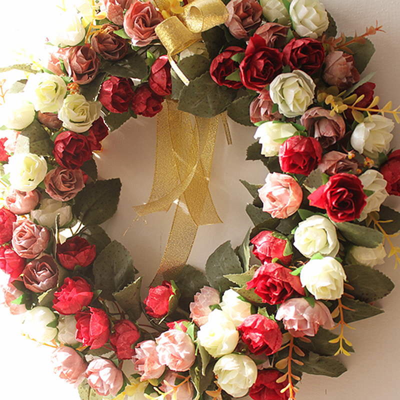 Buatan Karangan Bunga Ornamen Pintu Ornamen Menggantung Hiasan Dinding  Dekoratif Pernikahan Kreatif Garland Perlengkapan Pesta di Buatan   Bunga  Kering dari ... 16f2ced903