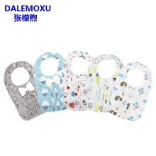 DALEMOXU Baby Burp Bib Novelties Girl Boy Feeding Muslin Fabric Cotton Bunny Saliva Towel Child Sorrow Bandana Kid Scarf