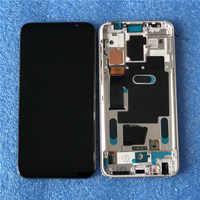 Originale Axisinternational Cornice DELLO SCHERMO LCD Per Meizu 16 16th M882Q/M882H Super AMOLED Display LCD Cornice Dello Schermo + Touch Panel digitizer