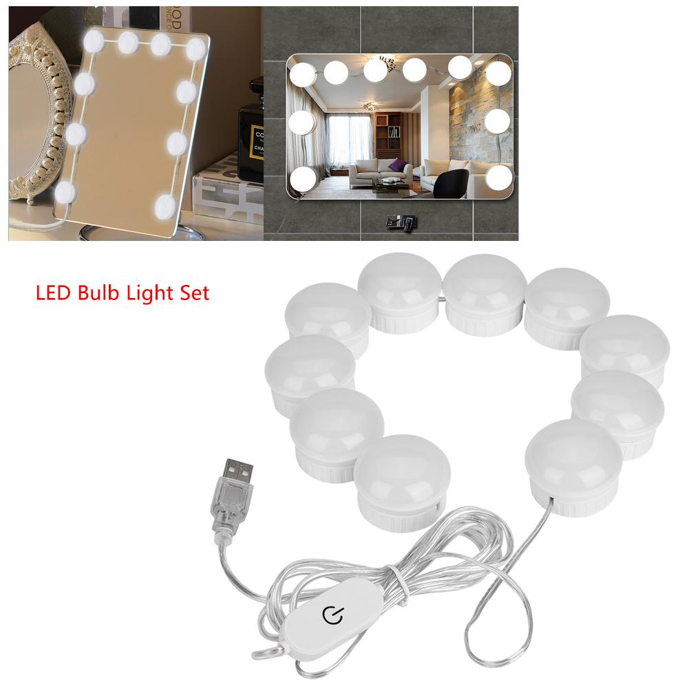 Amiable 10pcs Bulb Usb Led Makeup Lamp Kit For Dressing Table Stepless Dimmable Mirror Light 5v Cosmetic Dressing Table Lamp Tools 5 Eye Shadow Applicator