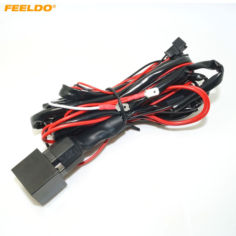 FEELDO 5Pcs Relay wiring harness kit for BMW CCFL LED angel eyes light Fade Function MX4758