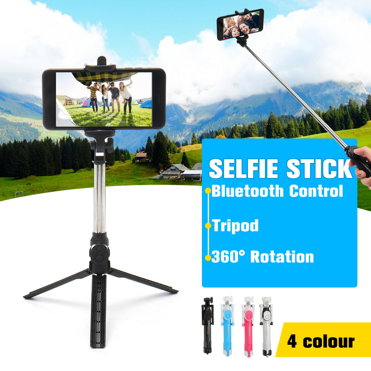 Extendable Wireless Remote Selfie Stick Mini Tripod with Bluetooth Controller For iPhone 5 6 7 8 Plus X Cell Smart Mobile Phone cell phone tripod with bluetooth remote control mobile phone selfie stick mini tripod for sport camera light monopod with clip