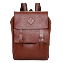New Laptop Backpack Men Male Shoulders Leather Package Business Affairs Leisure Capacity Student Bag Mochila Masculina School Ta