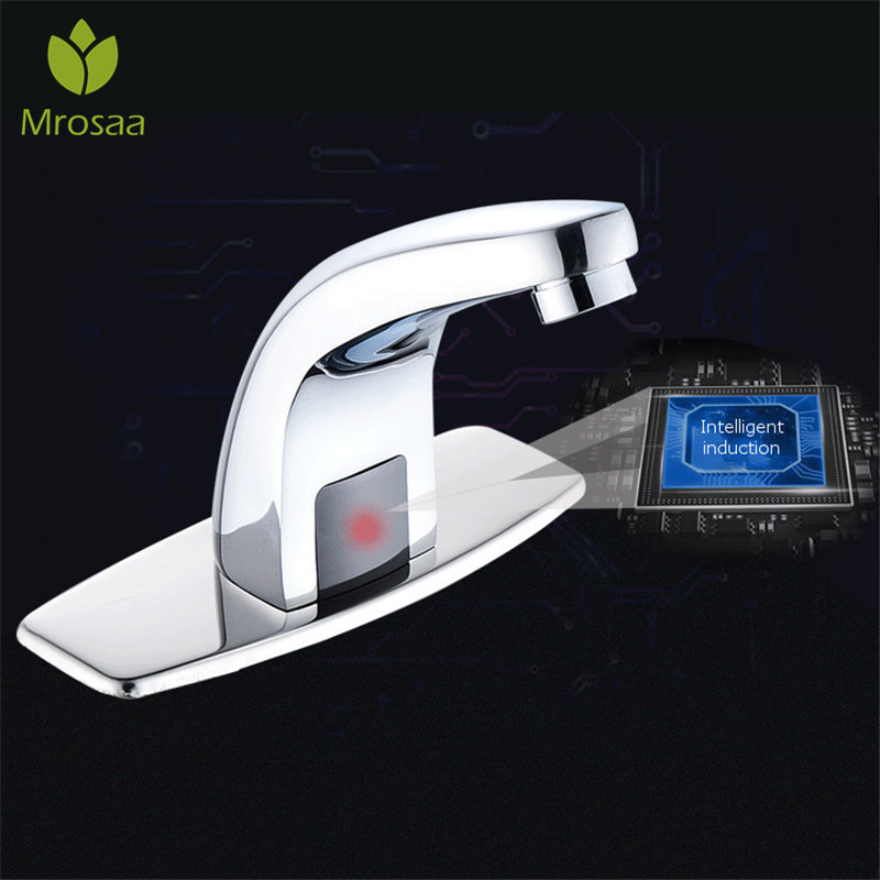 Automatic Inflared Sensor Basin Faucet Bathroom Water Saving Inductive Electric Water Tap Sink Mixer Touchless Sensor
